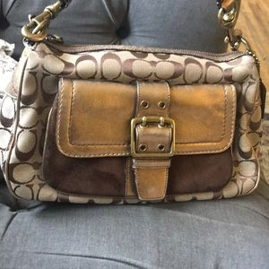 Small coach hobo style bag